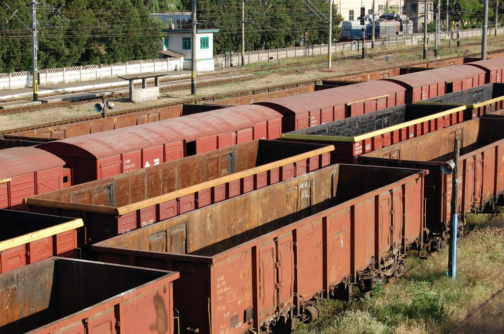 cargo containers on train