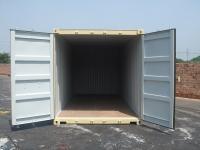 20' Shipping container cargo unit storage box open doors standard lock box waist high handles