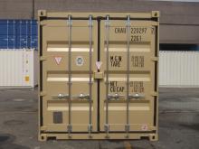 20' Shipping container cargo unit storage box open doors standard lock box waist high handles High Cube