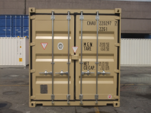 20' Shipping container cargo unit storage box open doors standard lock box waist high handles High Cube
