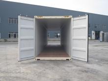 40' Shipping container cargo unit storage box open doors standard lock box waist high handles Double Door