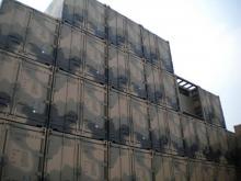 20' Shipping container cargo unit storage box open doors standard lock box waist high handles Camoflague Camo