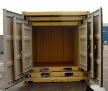 20' Shipping container cargo unit storage box open doors standard lock box waist high handles Nesting Box
