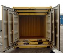 20' Shipping container cargo unit storage box open doors standard lock box waist high handles Nesting Box