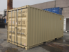 20' Shipping container cargo unit storage box open doors standard lock box waist high handles Double Door