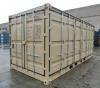 20' Shipping container cargo unit storage box open doors standard lock box waist high handles Open Side